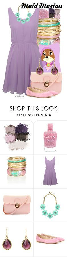 """""""Maid Marian"""" by amarie104 ❤ liked on Polyvore featuring Zoya, Oasis, Disney, Rare London, BaubleBar, Latelita and Chloé"""