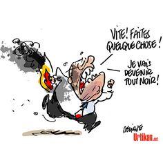 Jean-Marie Le Pen blessé dans l'incendie de sa maison - Dessin du jour - Urtikan.net Le Pen, Jean Marie, Political Cartoons, Embedded Image Permalink, Snoopy, Fictional Characters, Caricatures, Funny Cartoons, D Day