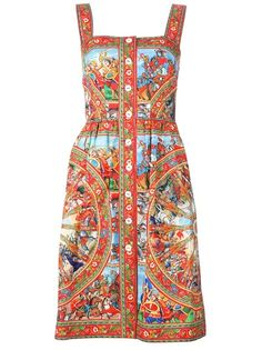 Button Dress by Dolce and Gabbana
