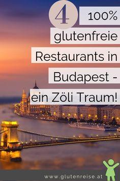 Glutenfrei in Budapest! Einfach toll! Es gibt gleich 4 100% glutenfreie Restaurants in Budapest! Budapest, Stück Pizza, Lokal, Vegan Recipes, Vegan Food, Travel Destinations, Restaurants, World, Glutenfree