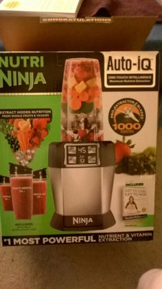 Nutria Ninja  vitamin extractor.  Have thoroughly enjoyed using this machine.  With it I can plan for the proper serving of fruit and vegetables.  Smoothies come out smooth and refreshing.