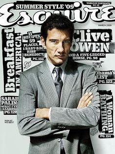 Esquire cover, March 2009, Clive Owen