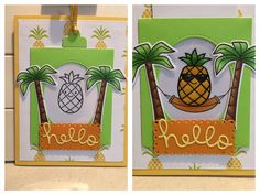 Lawn Fawn Magic Slider die and Aloha stamp set