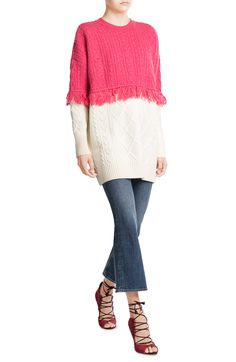 Wool Pullover with Fringed Trim - SJYP on stylebop.com  $509.00