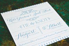 Wedding Stationery, Sarah Alison Boutique Stationery, Type-set Allure Invitation