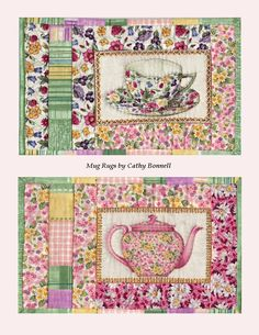 Sonhando, Vivendo e Aprendendo: Coasters e Mug Rugs - Maybe use just the motif block without the other strips