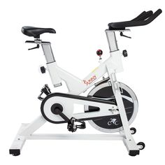 Sunny Health Fitness Indoor Cycling Bike White ** More info could be found at the image url. (This is an affiliate link) Indoor Cycling Bike, Cycling Bikes, Quiet Workout, Best Exercise Bike, Peloton Bike, Recumbent Bike Workout, Bicycle Brands, Workout Belt, Spin Bikes