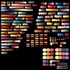 color palette digital painting - Tìm với Google