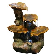 Four Leaf Fountain with LED Lights