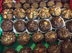 German Chocolate cupcakes w/chocolate cream cheese frosting that I made for my daughters holiday party for school S2S club.
