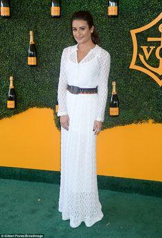 Lea Michele at Polo Classics in LA