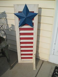 Happy Memorial Day! What a great way to recycle an old shutter
