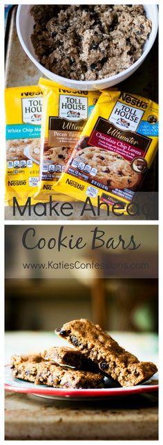 {Ad} Make Ahead Cookie Bars #BackToSchoolReady