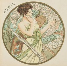 fawnvelveteen: Alphonse Mucha | The Months - April, 1899.