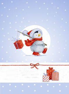 Cute penguin card topper