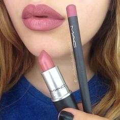 M.A.C. Soar Lip Liner and Brave Lipstick