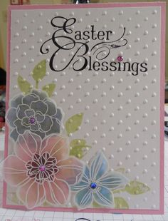 Easter Blessings - Stained Glass Flowers Technique
