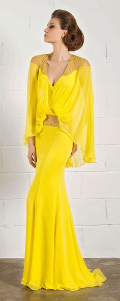 RANI ZAKHEM READY TO WEAR.. I love this but maybe not the color, purple or fuschia?! oooooh or emerald green