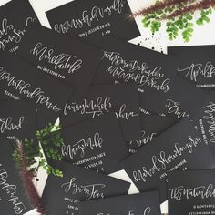 White Modern Calligraphy Envelope Addressing