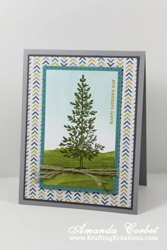 masculine Lovely as a Tree card by Amanda Corbet.... (change sentiment)