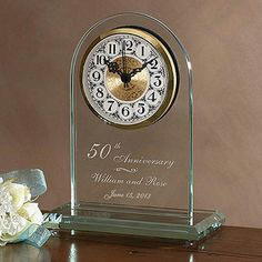 Celebrate the timeless love of their anniversary with our Everlasting Love Anniversary Clock. #clock #anniversary #giftideas