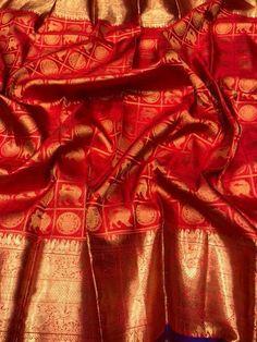 Discover thousands of images about Elegant Designer Wedding Sari CLICK VISIT link to read more sariweddings Pattu Sarees Wedding, Kerala Wedding Saree, Bridal Sarees South Indian, Wedding Saree Blouse Designs, Bridal Silk Saree, Wedding Sari, Tamil Wedding, Kanjivaram Sarees Silk, Indian Silk Sarees