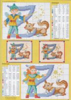 "Gallery.ru / geminiana - Альбом ""iniciales 9"" Disney Cross Stitch Patterns, Baby Bibs, Alphabet, Kids Rugs, Letters, Gallery, Decor, Cross Stitch Alphabet, Monograms"