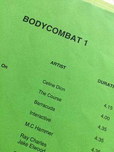 Body Combat, Les Mills, Ray Charles, Celine Dion, Les Mills Combat