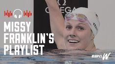"""Four-time Olympic gold medalist Missy Franklin can't listen to pump-up music before races or she gets too amped. Instead, she has this go-to """"chill"""" list of songs that keeps her relaxed."""