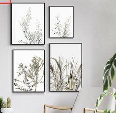 Leaf Wall Art, Abstract Wall Art, Canvas Art Prints, Canvas Wall Art, Minimalist Poster, Modern Minimalist, Bedroom Artwork, Dining Room Wall Art, Nordic Art