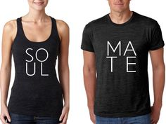 His and Her Soul Mate Burnout Shirts   Mr Mrs matching shirts Bride Groom Burnout Shirts