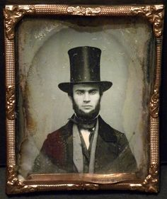 9th Plate Daguerreotype Man with Top Hat