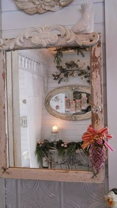 a joyful cottage living large in small spaces a tour of shabby chic tiny vintage medicine cabinet mirrorspice