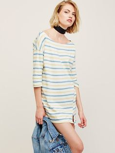 FP Beach Everyday Striped Tunic at Free People Clothing Boutique