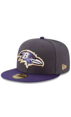 NFL Men s Baltimore Ravens New Era Graphite Purple Gold Collection On Field  59FIFTY Fitted Hat d8f0a021d