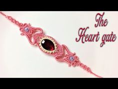 How to make a macrame bracelet: the Heart gate - Step by step macrame tutorial - YouTube
