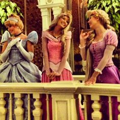 Cinderella, Aurora and Rapunzel