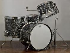 "Rogers 20/12/12/16/5x14"" Top Hat Drum Set - 1960s BDP"