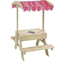 Sitzgruppe mit Sandkasten Holz
