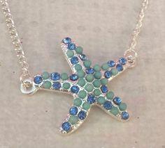 Collar-estrella-de-mar-azul-Perfecto-para-regalar-Opcion-cadena-plata-925