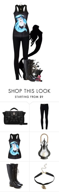 """""""Punk!Ariel - The Little Mermaid"""" by little-miss-otp ❤ liked on Polyvore featuring Ström, Cyan Design and Disney"""