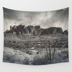 Superstition Mountain - Arizona Desert Wall Tapestry