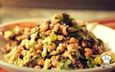 Black Eyed-Pea Salad with Fried Kalamata Olives and Parsnip Recipe : Damaris Phillips : Food Network Black Eyed Peas, Black Eyed Pea Salad, Grape Nutrition, Food Network Recipes, Cooking Recipes, Healthy Recipes, Healthy Meals, Vegetarian Recipes, Tuna