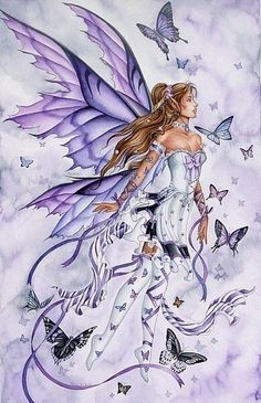 My alter ego, my Fibro Fairy Complete with purple and butterflies