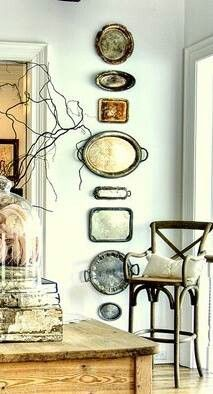 Vintage trays for dining room