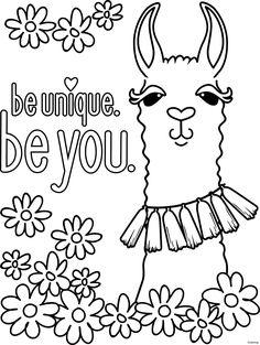 Llama! Free and printable coloring page by Karma Gifts ...