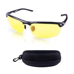 Hootracker Lunettes de Vision Nocturne Polarisée Lunettes de Soleil Vision  de Nuit Anti-éblouissement UV400 Protection Conduite Pêche Tir Chasse Ski  Sports ... 3b01d7594602