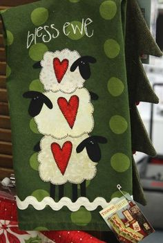 Eek! Use Wonderunder to attach sheep appliques to a fleece blanket.