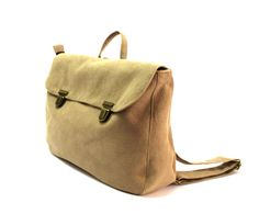 A  stone-beige backpack vegan backpack  faux by charlottabags
