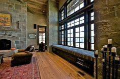 Mountain Home Great Room - traditional - family room - denver - by Highline Partners, Ltd